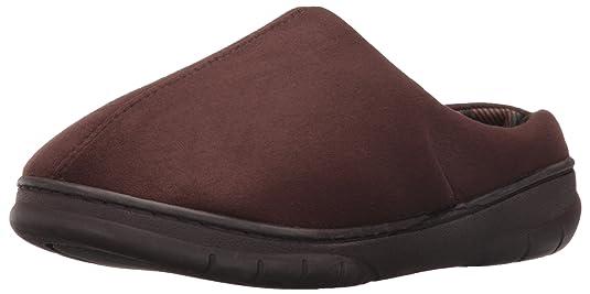 Dearfoams Men's Microfiber ... Clog Slippers P4l0TIdd