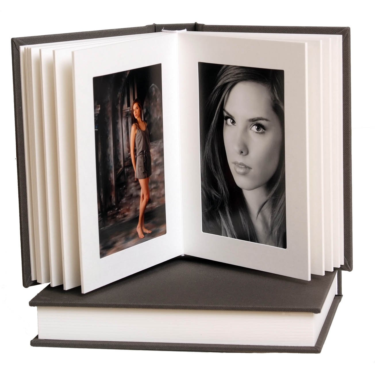Artisan Grey/White Slip-in Album 5x7 15 Pages/30 Photos by Midwest Photographic