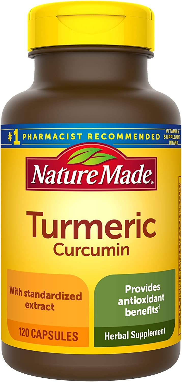 Nature Made Turmeric Curcumin 500 mg Capsules, 120 Count for Antioxidant Support: Health & Personal Care