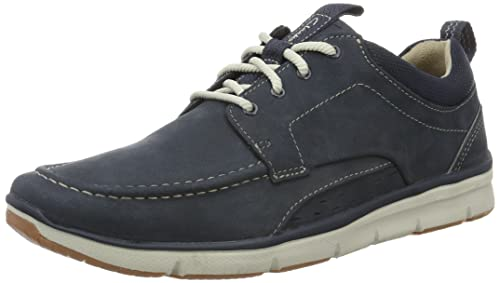 Clarks Men's Orson Bay Low-Top Sneakers, Blue (Navy Nubuck), 6