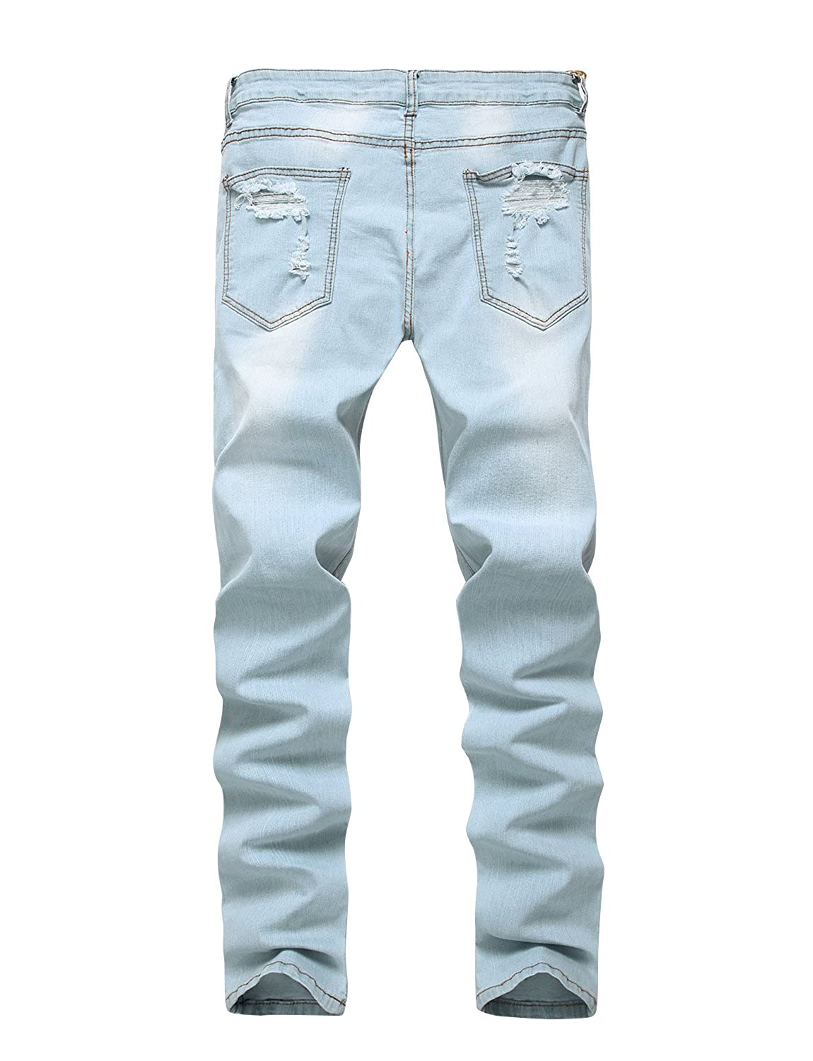 0dad9b5221b2 ANN Men's Ripped Destroyed Skinny Denim Jeans with Holes at Amazon Men's  Clothing store: