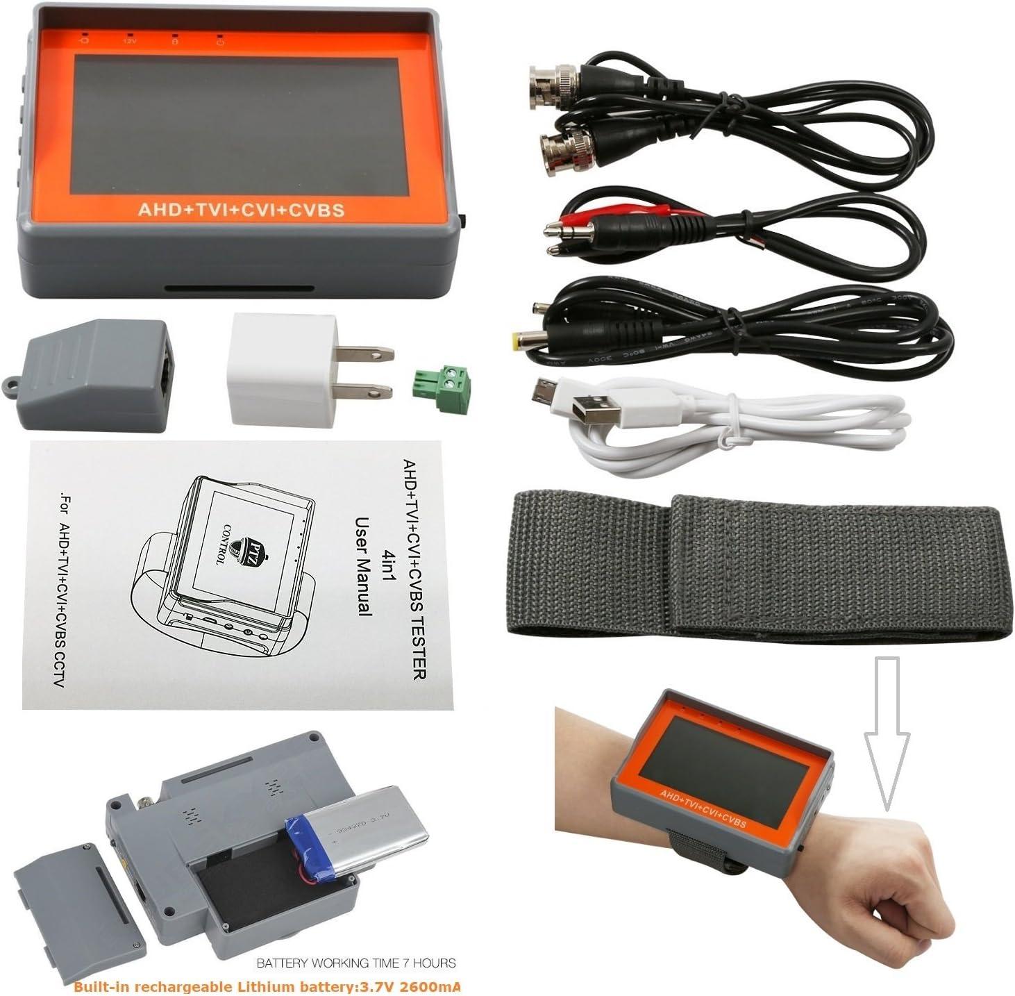 7-Zoll-4in1-Überwachungskamera-Tester TVI CVI AHD CVBS-Testsicherheitsmonitor