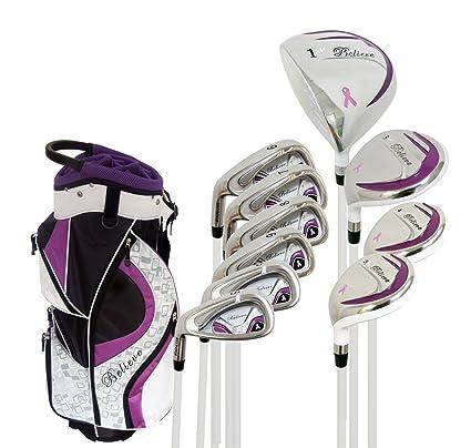 Womens Left Handed Golf Clubs >> Amazon Com Believe Founders Club Womens Golf Set Purple Ladies