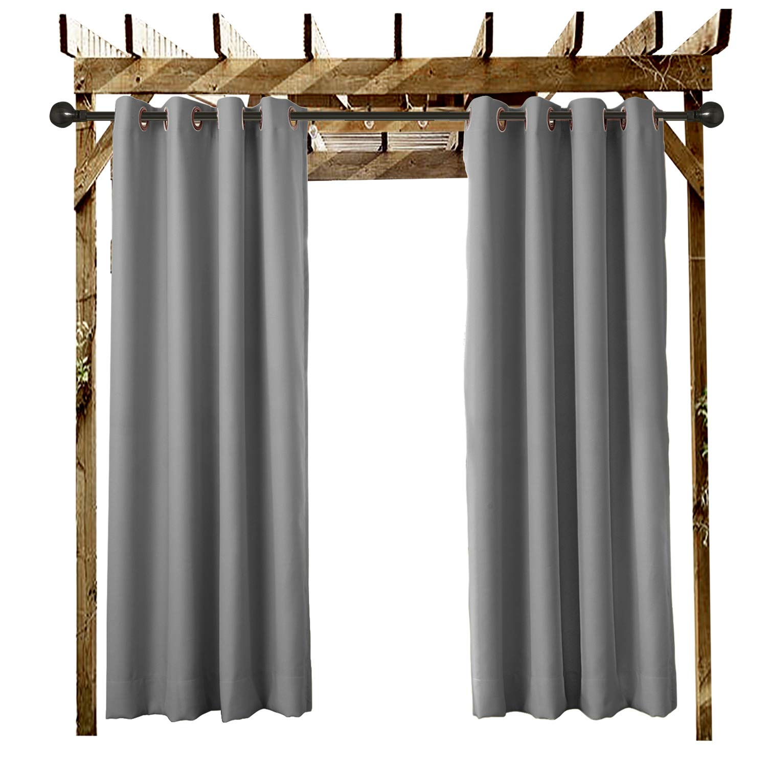 and Beach Home Pergola . Dock 1 Panel Covered Patio Outdoor Curtain Grommet Eyelet Navy 84 W x 72 L For Front Porch Cabana Gazebo
