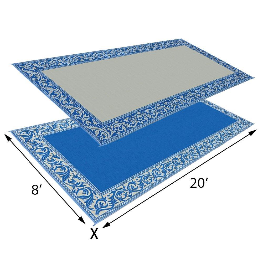 Mings Mark RC7 Brown//Beige 8 x 20 Classical Reversible Mat