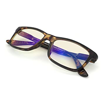 J+S Vision Blue Light Shield Computer Reading/Gaming Glasses - 0.0 Magnification -