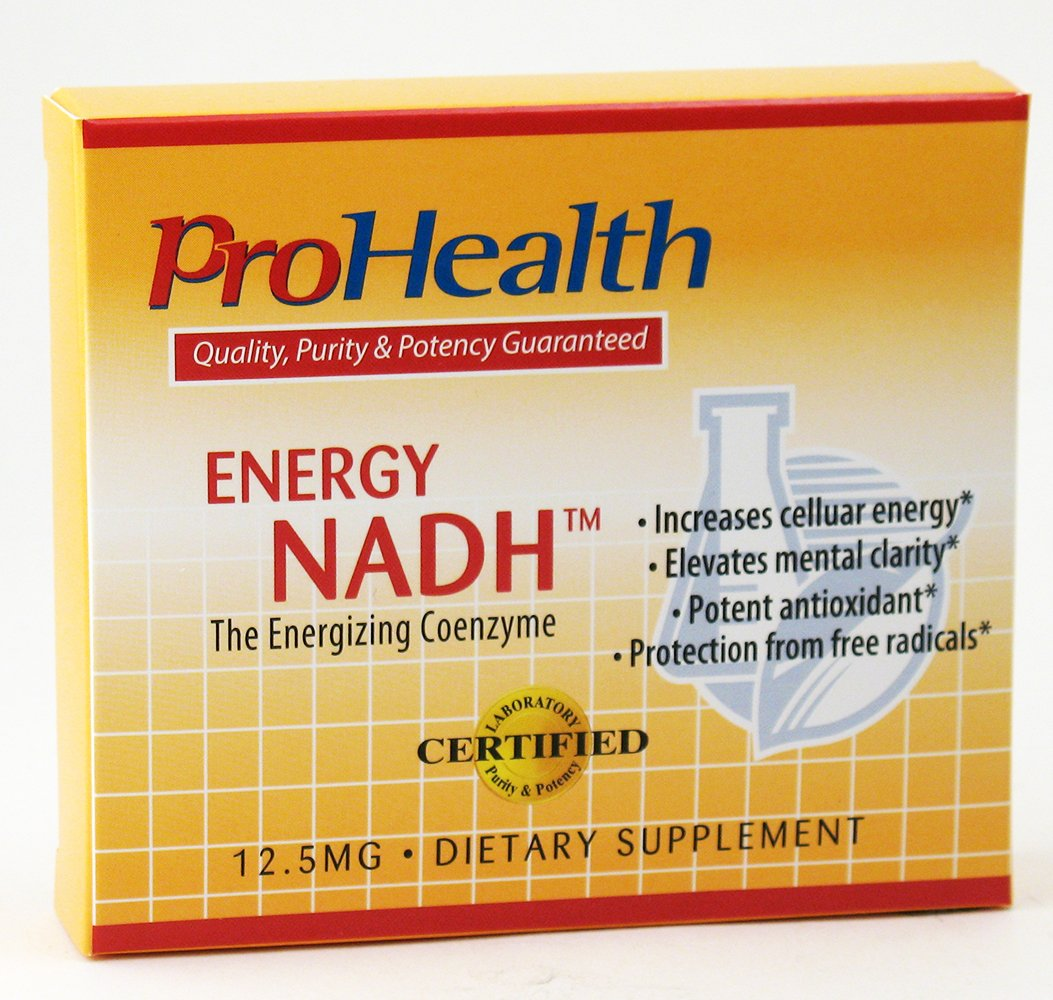 ProHealth Energy NADH (12.5 mg, 90 tablets) Boost Energy, Mental Clarity, Alertness and Concentration | Unique Cellulose Matrix Coating for Enhanced Absorption | Gluten Free | Dairy Free | Vegetarian