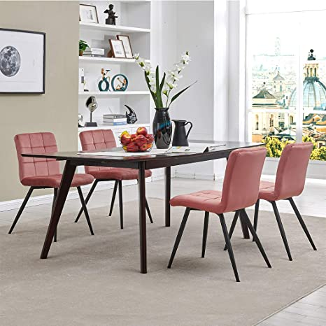 Outstanding Duhome Elegant Lifestyle Velvet Pink Dining Room Chairs Vanity Chairs Accent Upholstered Makeup Chairs With Gold Plating Metal Legs For Uwap Interior Chair Design Uwaporg