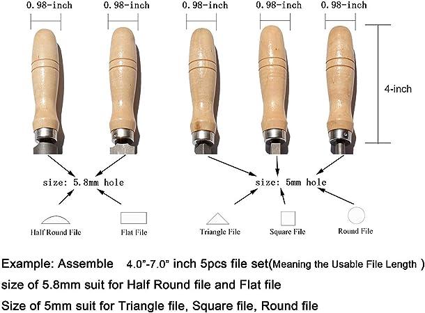 Hardwood 80//3mm File Folder Wooden Handle for File 60-160mm Long