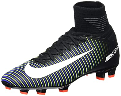 sale retailer 71a7b 5e001 Amazon.com   Nike Kids Mercurial Superfly V FG Black White Electric Green  Soccer Shoes   Soccer