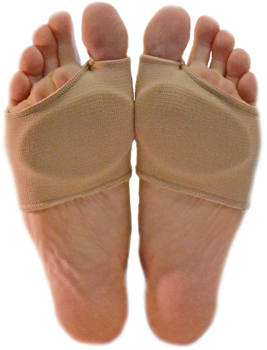 NatraCure Metatarsal Gel Sleeve w/ Forefoot Cushion Pad (1 Pair) - Supports Ball of Foot Health - S/M
