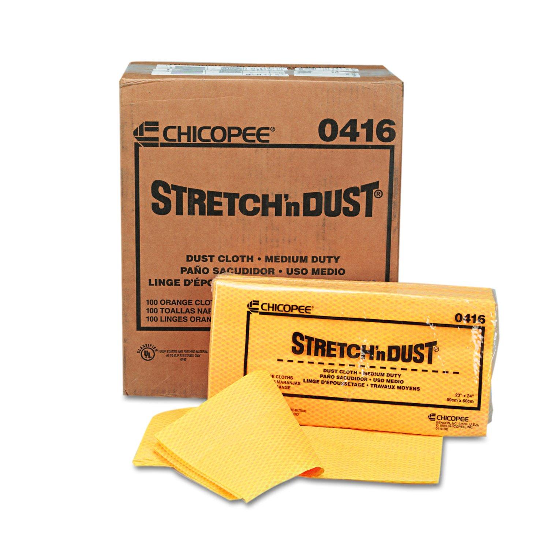 Amazon.com: Chicopee Stretchn Dust 0416 Medium Duty Dust Cloth, Yellow/Orange 24-Inch x 24-Inch (100 Count, 5 bags of 20): Industrial & Scientific