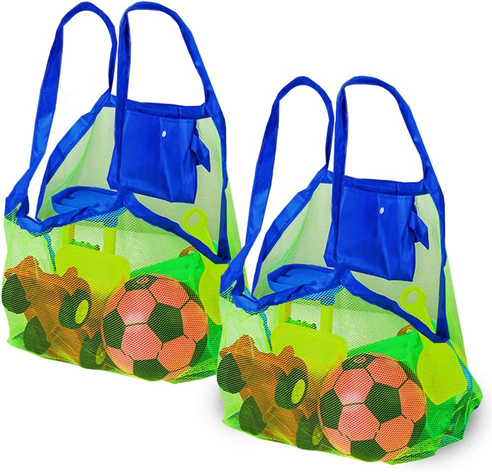 Bramble Set de 2 Bolsas de Malla para la Playa Juguetes de niños / Toallas etc - Ideal para Piscina - Bolsas Increíbles para Verano