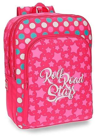 Roll Road 5242461 Stars Mochila Escolar, 42 cm, 27.72 litros, Rosa: Amazon.es: Equipaje