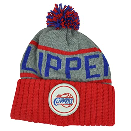 8db8f272cb6 Amazon.com   Mitchell   Ness Los Angeles Clippers NBA High 5 Gray Current Cuffed  Knit Hat   Sports   Outdoors