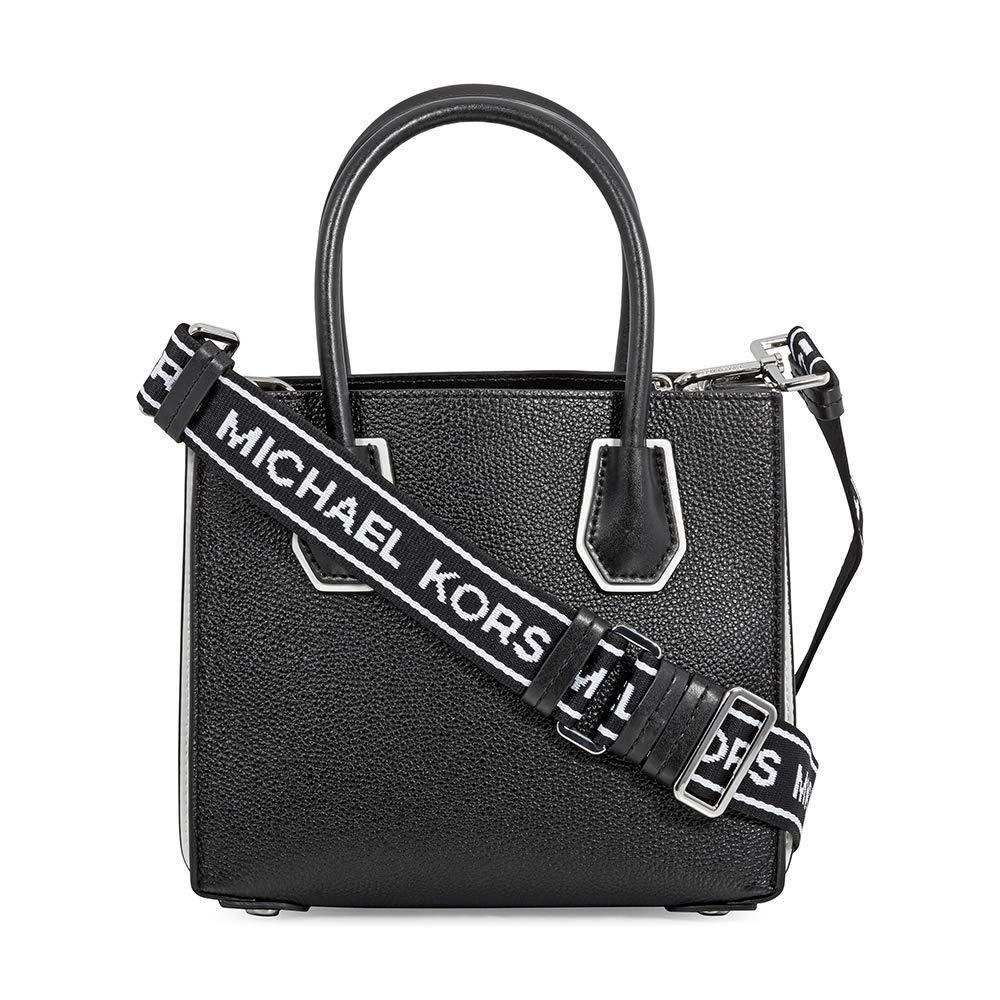 c567d1f71d02 Michael Kors Mercer Accordion Logo Crossbody BLK/OPTICWHT: Handbags:  Amazon.com