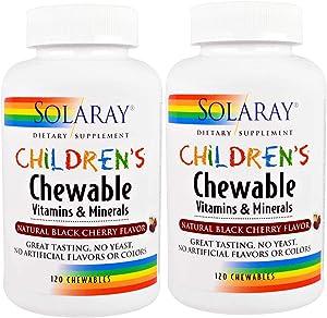 Children's Chewable Vitamins & Minerals Solaray 120 Chewable