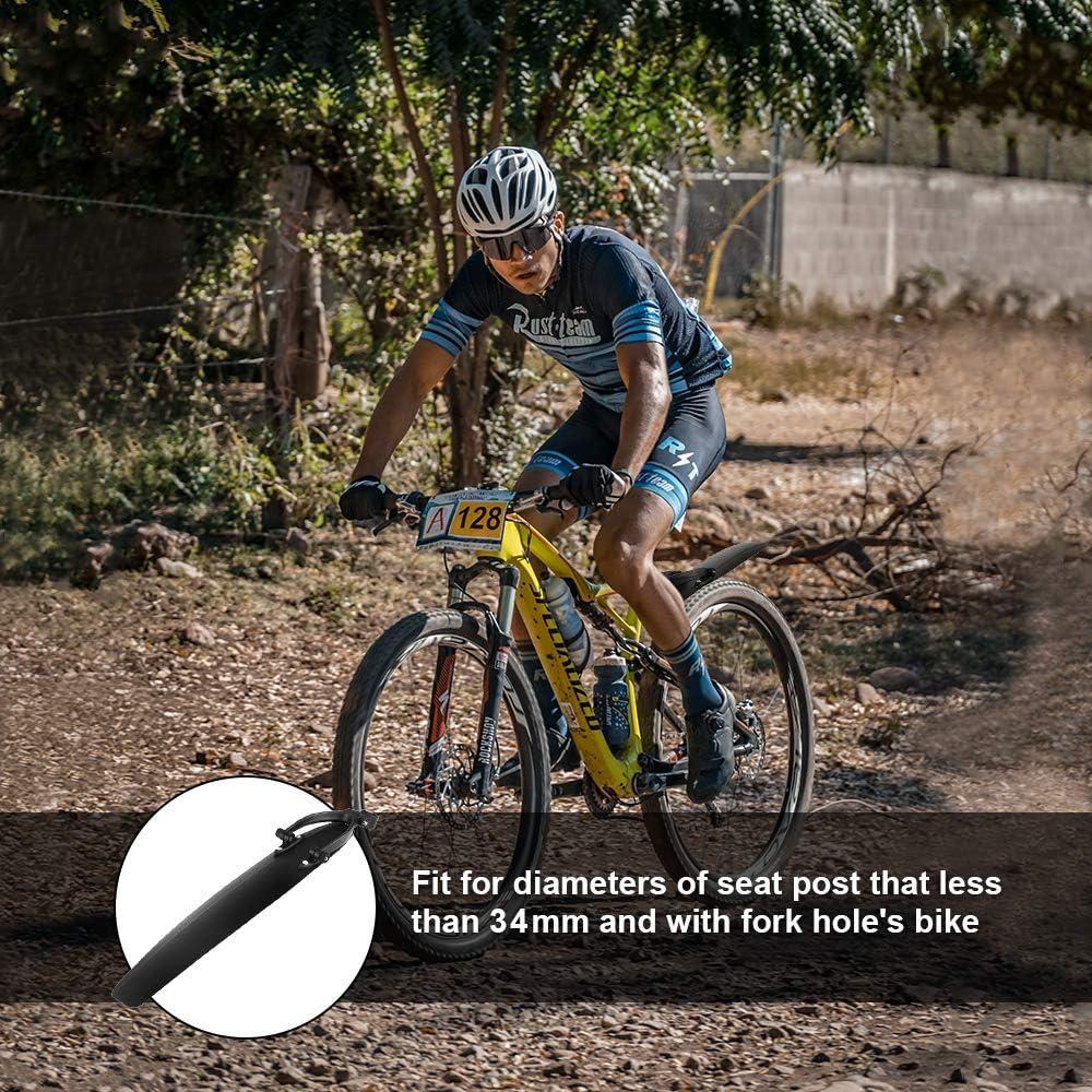 QKURT Bike Mudguard Set Bike Fenders MTB Mudgurad Front and Rear Mudgurad Fit for 20,22,24,26 Inch Bikes