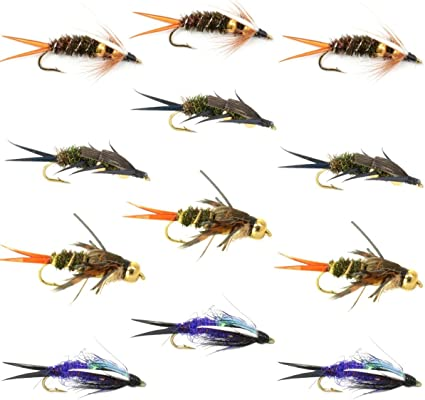 One Dozen Bead Head Purple Psycho Prince Nymph Size 18 flies 12
