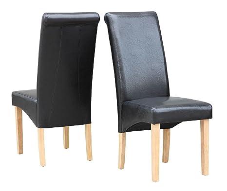 Stock Sedie Di Legno.Cravog Premium Sedie In Ecopelle Posteriore Alto Legno Mobili Set