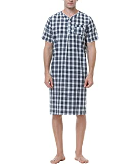 Aibrou Camison Sexy Hombre Algodon Pijama Casual Manga Corto y ...