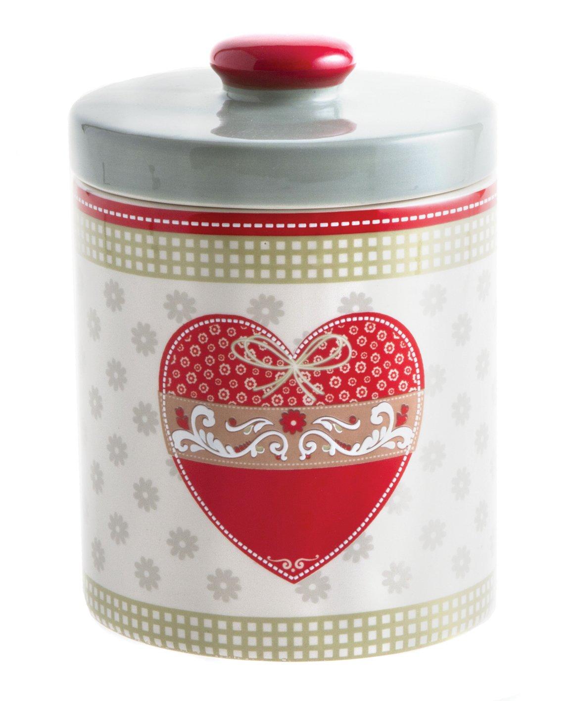 Tognana Barattolo Biscottiera Linea Dolce Casa con decorazione a cuore