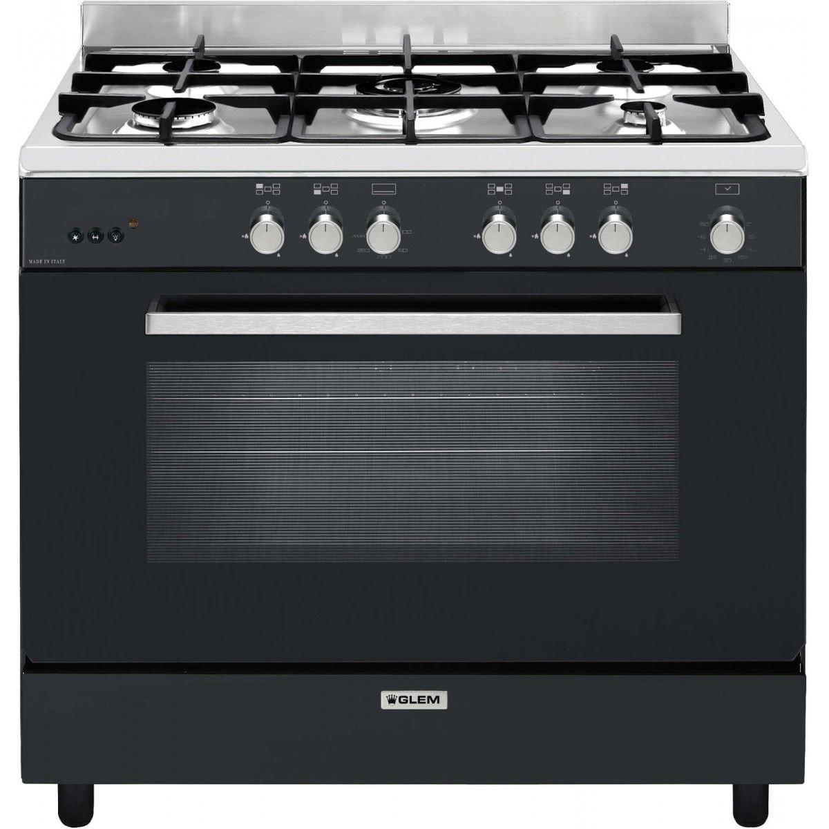 Glem GE960CMBK - Cocina (Cocina independiente, Negro, Giratorio ...