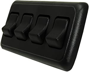 American Technology Components Quad SPST On-Off Switch with Bezel, 12-Volt, for RV, Trailer, Camper (Black)