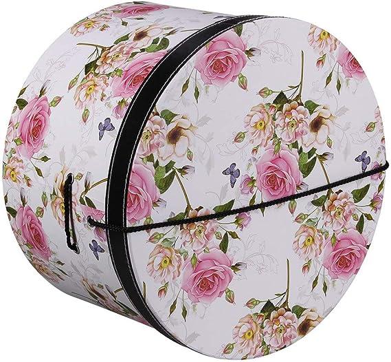 Lierys Caja Sombrero Pink Flowers 34 cm by sombrereracaja para (Talla única - Blanco): Amazon.es: Ropa y accesorios