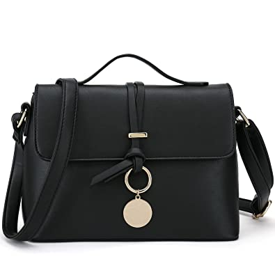17ca66b8de Stylish Cross Body Purses For Women Fashion Shoulder Bag Ladies Desinger  Handbag (Black)