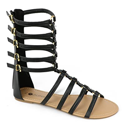 c0b94281253b Chatties Women s Buckle Gladiator Sandal (5-6 B(M) US