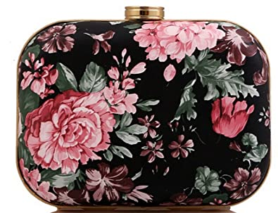 Amazon.com: buenocn Mujeres box-like Estampado Floral Bolsa ...