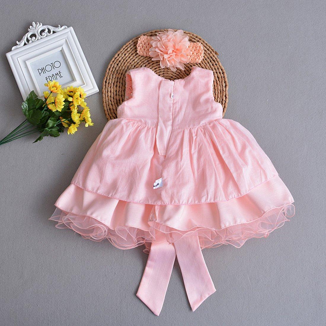 ADHS recién nacido Bebés y Niñas Vestido de de boda 8099 flores ...