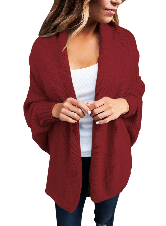 Dearlove Women's Over Sized Chunky Knit Open Front Bat Sleeves Sweater Draped Cardigan S-XXL GL27751