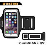 Amazon Price History for:Sports Armband for iPhone 7 Plus 6s Plus 6 Plus, Portholic-LIFE WARRANTY-For LG G5, Note 3/4/5 with case(fits with Otterbox Defender&Lifeproof case)with Key&Cards Holder, Cable Locker(BLACK,6.5 Inch)