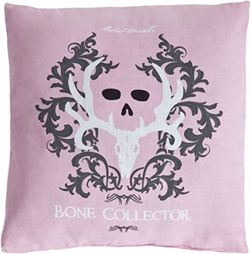 Bone Collector Square Pillow, Pink