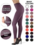 SATINA Women's High Waisted Leggings Plus Size Vintage Violet