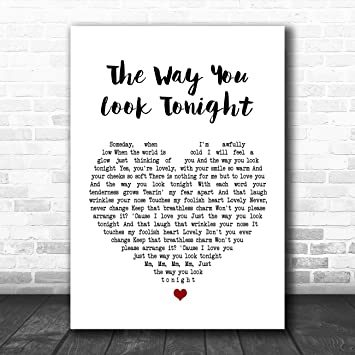 My Way Heart Song Lyric Quote Print