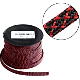 100ft - 1/4 inch PET Expandable Braided Sleeving – Blackred – Alex Tech braided cable sleeve