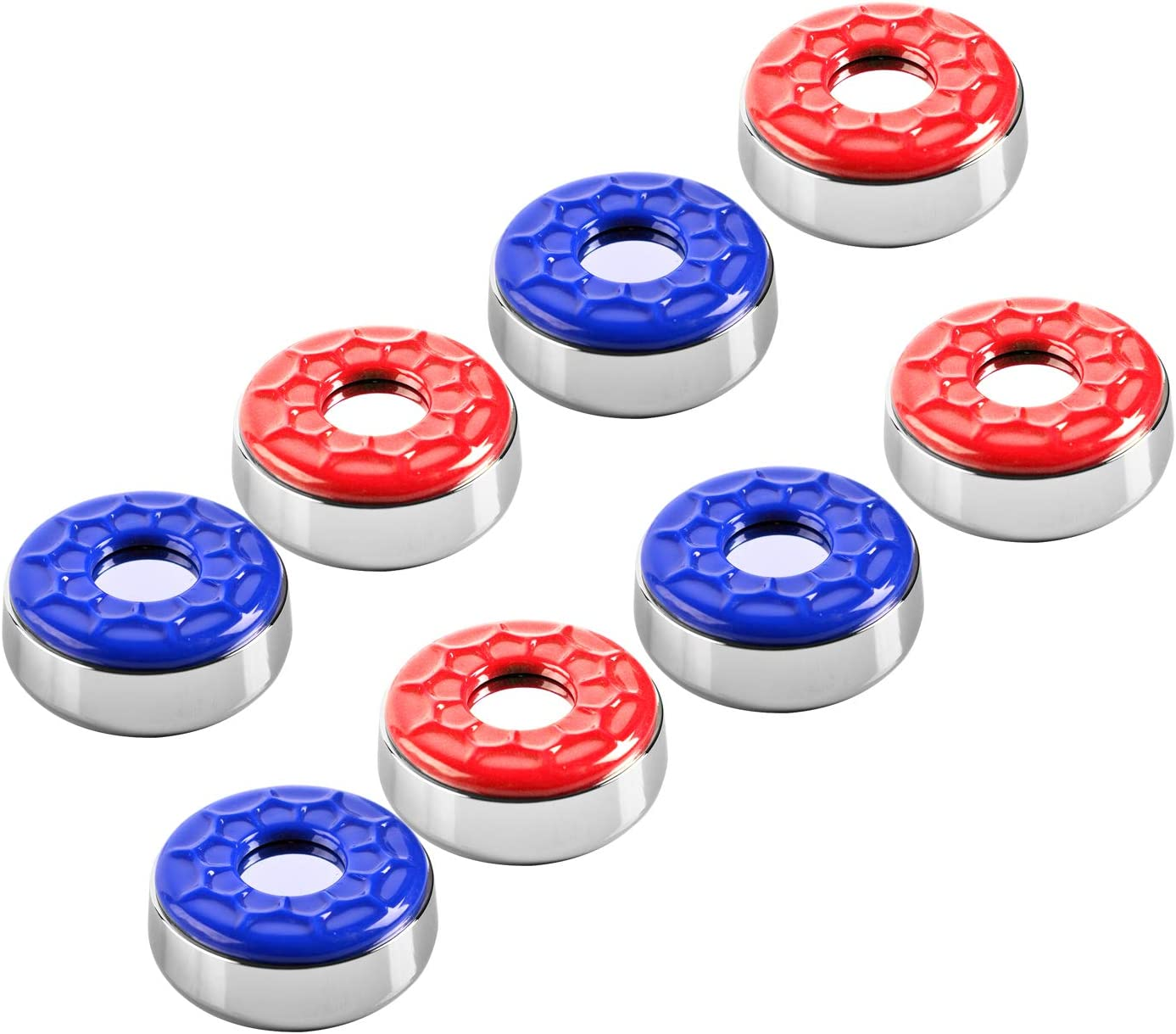 58mm red/&Blue IdealEnjoy Shuffleboard Pucks 2-1//4 ,Set of 8
