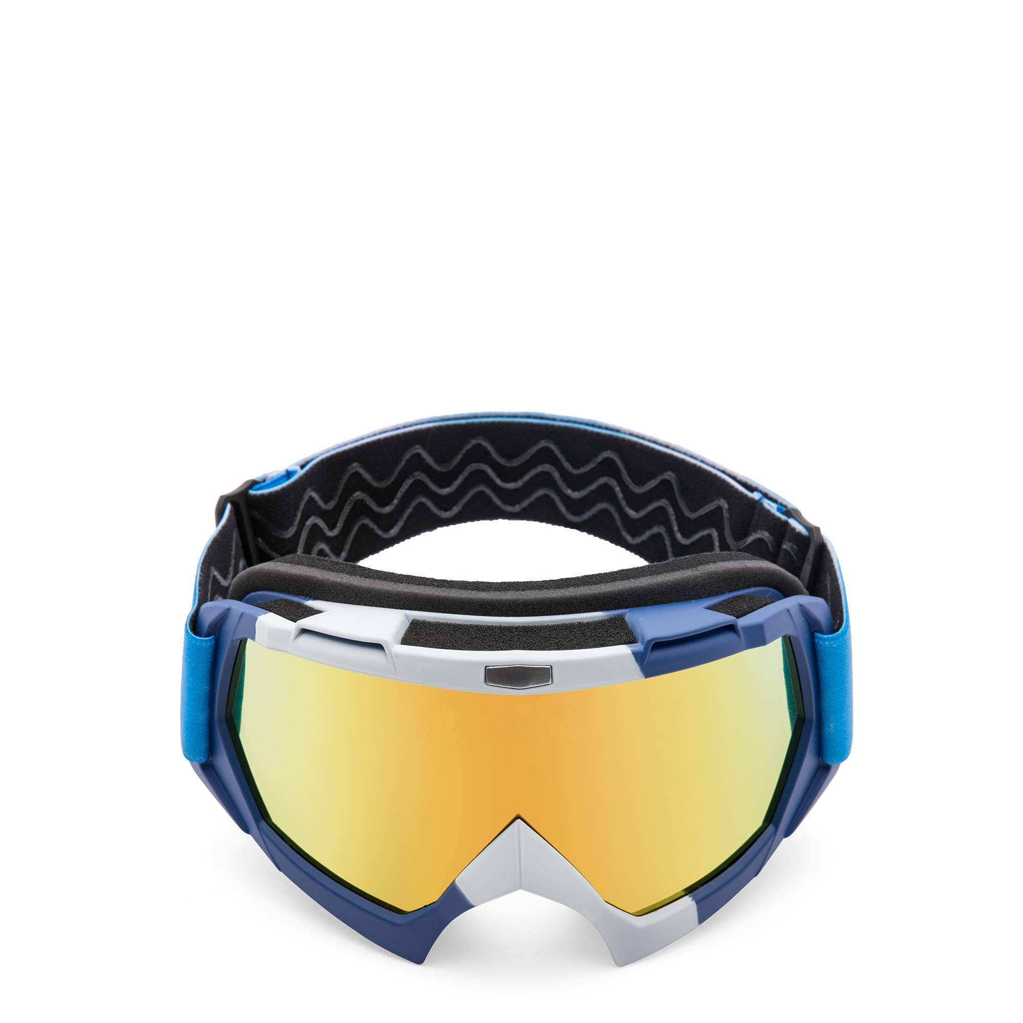 AULLY PARK Motorcycle Goggles, Dirt Bike Goggles Grip, ATV Motocross Mx Goggles Glasses with 3 Lens Kit Fit for Men Women Youth Kids by AULLY PARK