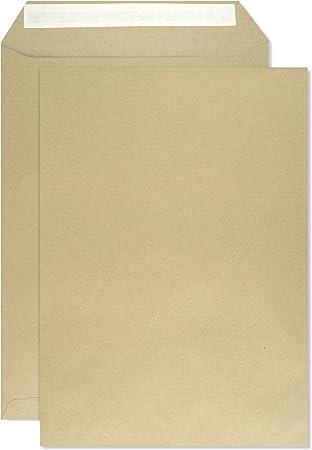 Briefumschläge DIN C4 229 mm x 324 mm mit Fenster braun Haftklebung für Din A4