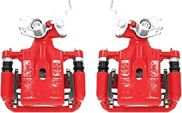 Power Stop S1692 Performance Rear Brake Calipers Powder Coated Red Pair