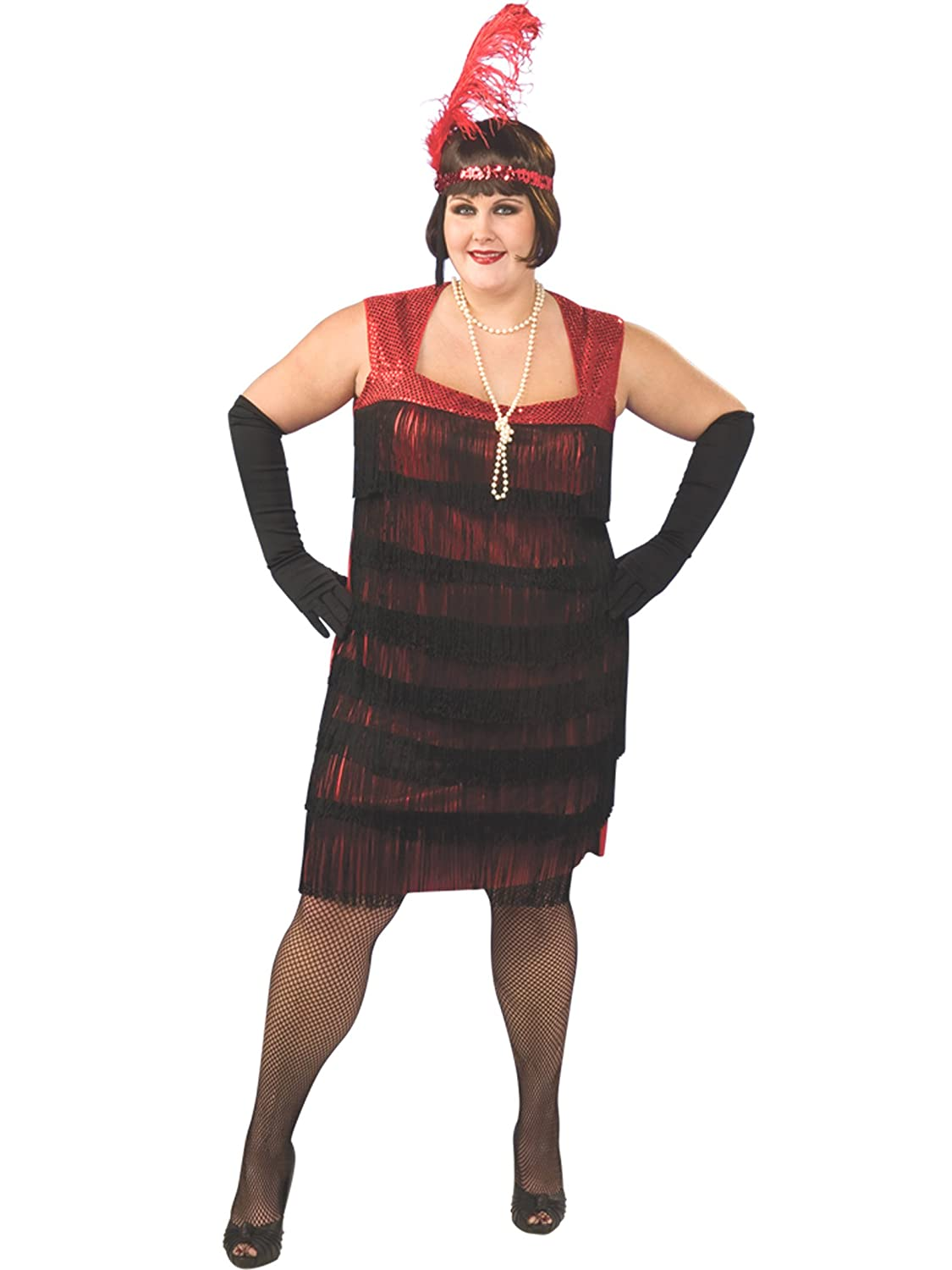 Flapper Costume Plus Size 1920u0027s Dress Dancer Womens Theatrical Costume at Amazon Womenu0027s Clothing store Adult Sized Costumes  sc 1 st  Amazon.com & Flapper Costume Plus Size 1920u0027s Dress Dancer Womens Theatrical ...