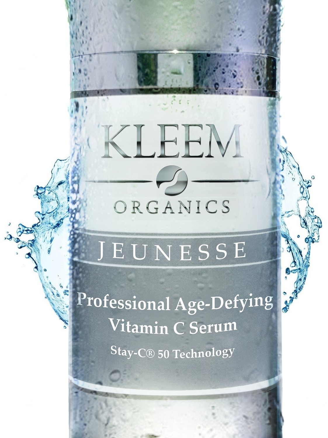 ORGANIC Vitamin C Serum for Face, Neck & Décolleté for Anti Aging, Age Spots, Acne & Neck Firming - BEST Anti Wrinkle Facial Treatment Serum with Natural Ingredients to Restore & Boost Collagen - 1 oz by Kleem Organics
