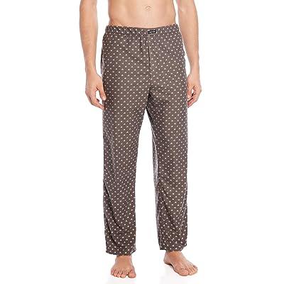 Calvin Klein Men`s Logo Waistband PJ Pants (Grey(NP2108-078)/White, Large) at Men's Clothing store