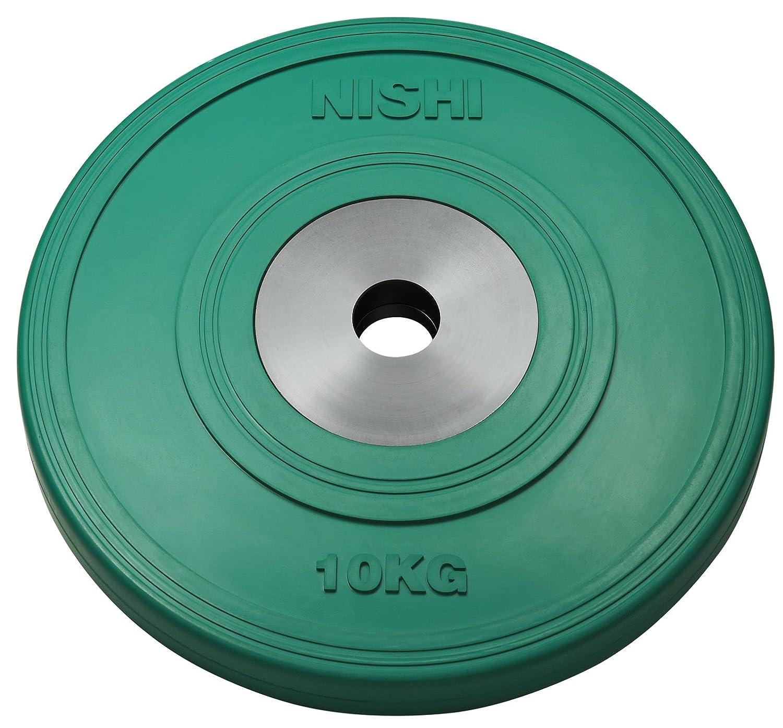 NISHI(ニシスポーツ) HGラバープレート50 φ50㎜バー用 10kg T2381B B00O8SL3K6