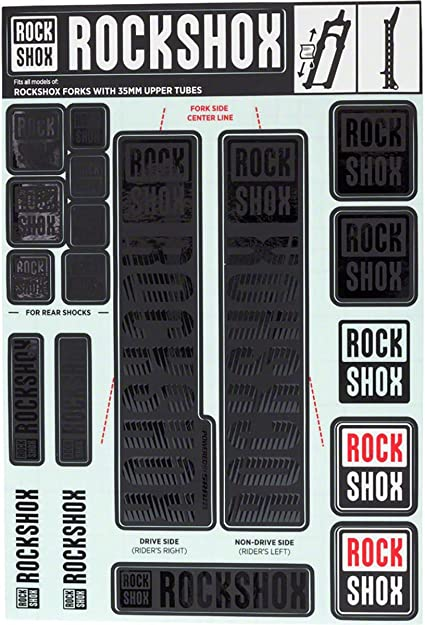 RockShox Decals Stickers Heavy Duty Forks Graphics Autocollant Aufkleber Adesivi