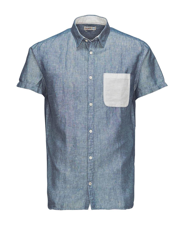 8c185fa11e0fd9 JACK   JONES Herren Hemd jorDUST Shirt Kurzarm Leinenhemd Regular Fit (S