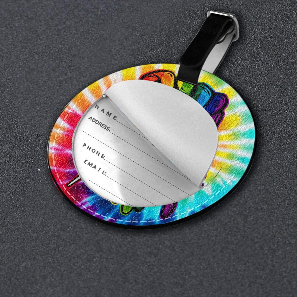 Free-2 Gay Pride Rainbow Fist LGBT Luggage Tag 3D Print Leather Travel Bag ID Card